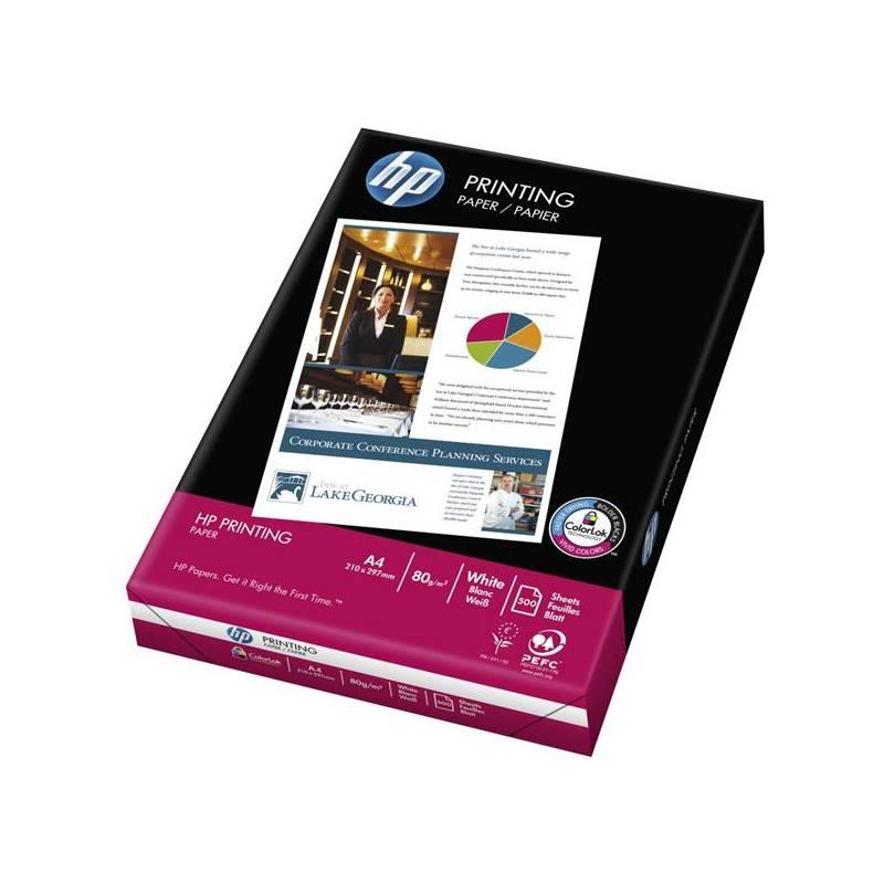 Papiere do tlačiarne HP Printing, A4, 500 listů, 80 g/m2 (CHP210) biely
