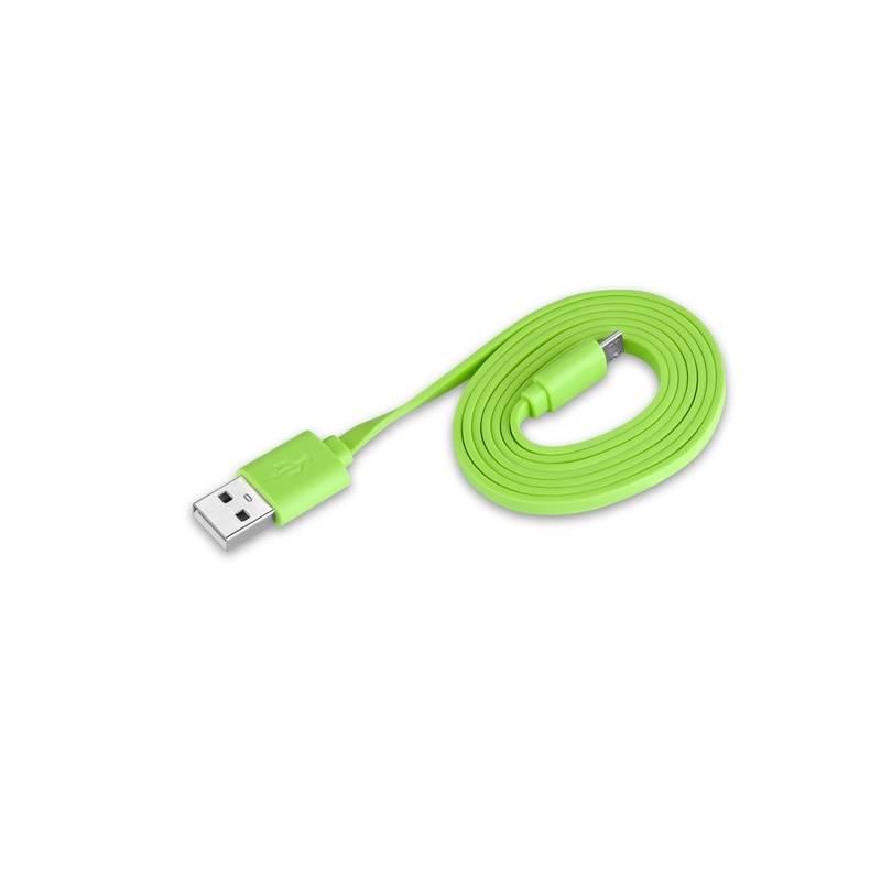 Kábel GoGEN MicroUSB, 1m (GOGMICUSB100MM04) zelený