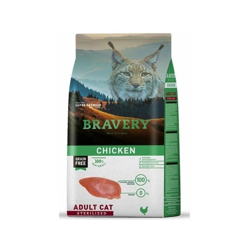 Granule Bravery cat STERILIZED chicken 7kg