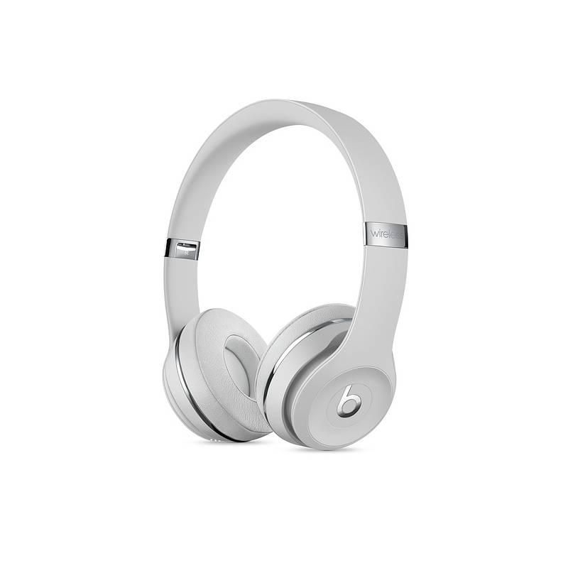 Slúchadlá Beats Beats Solo3 Wireless On-Ear - saténově stříbrná (MUH52EE/A) + Doprava zadarmo