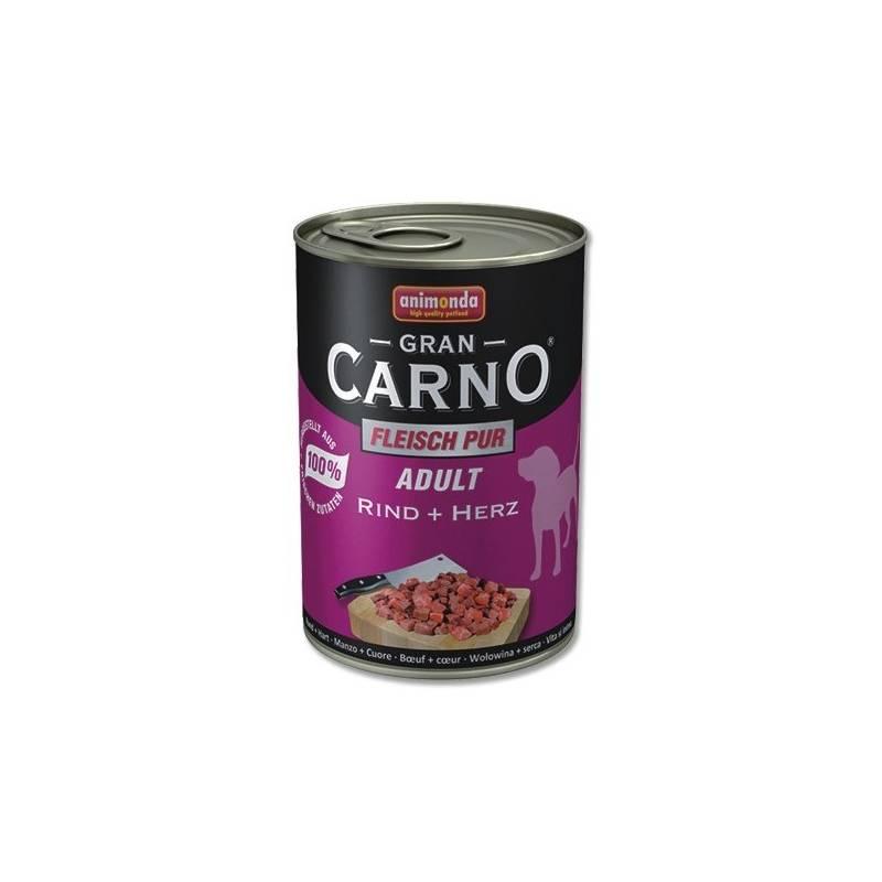 Konzerva Animonda Adult Gran Carno Plus hovězí + srdce 400g