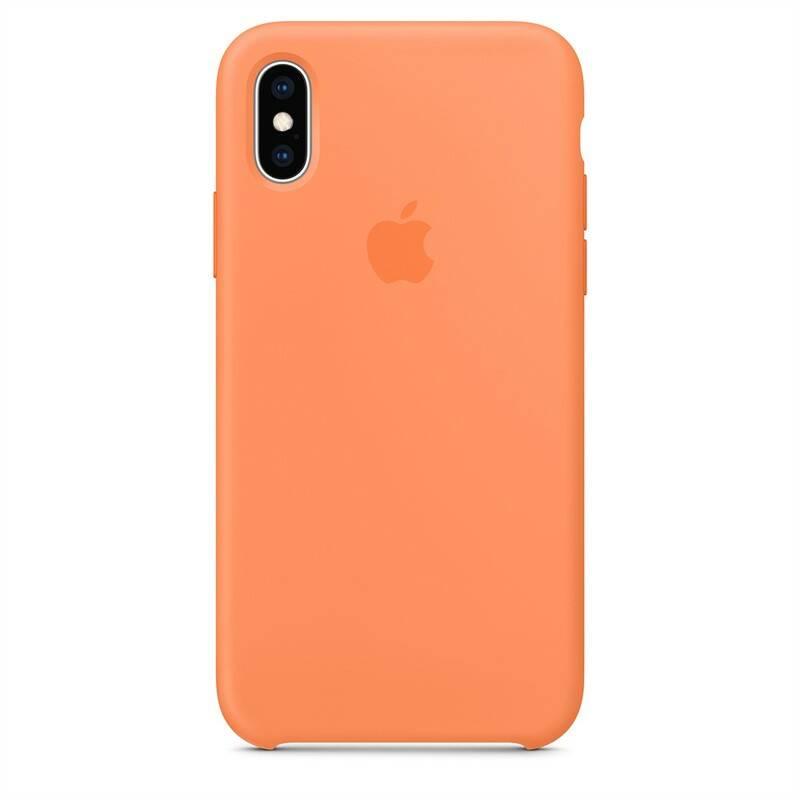 Kryt na mobil Apple Silicone Case pro iPhone Xs - papájový (MVF22ZM/A)