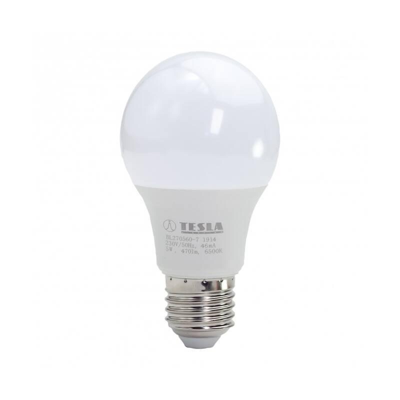LED žiarovka Tesla klasik, 5W, E27, studená bílá (BL270560-7)