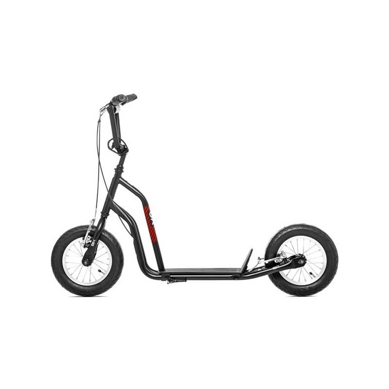 """Kolobežka Yedoo Basic Ox 12"""" čierna/červená + Reflexní sada 2 SportTeam (pásek, přívěsek, samolepky) - zelené v hodnote 2.80 € + Doprava zadarmo"""