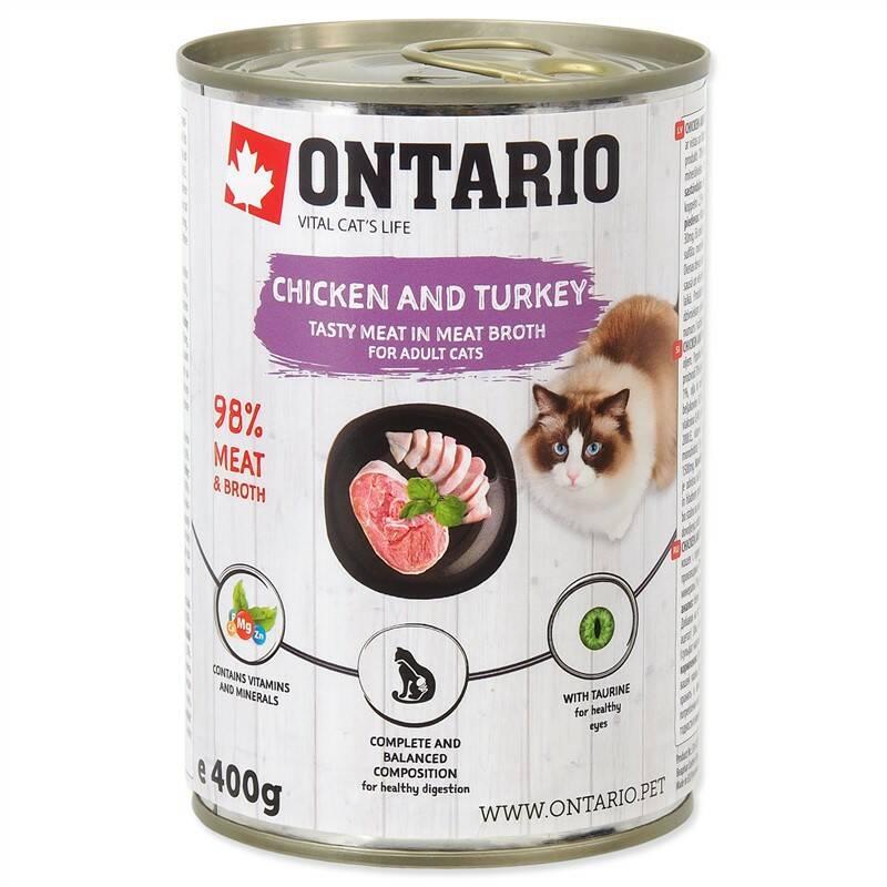 Konzerva Ontario Chicken, Turkey,Salmon Oil 400 g