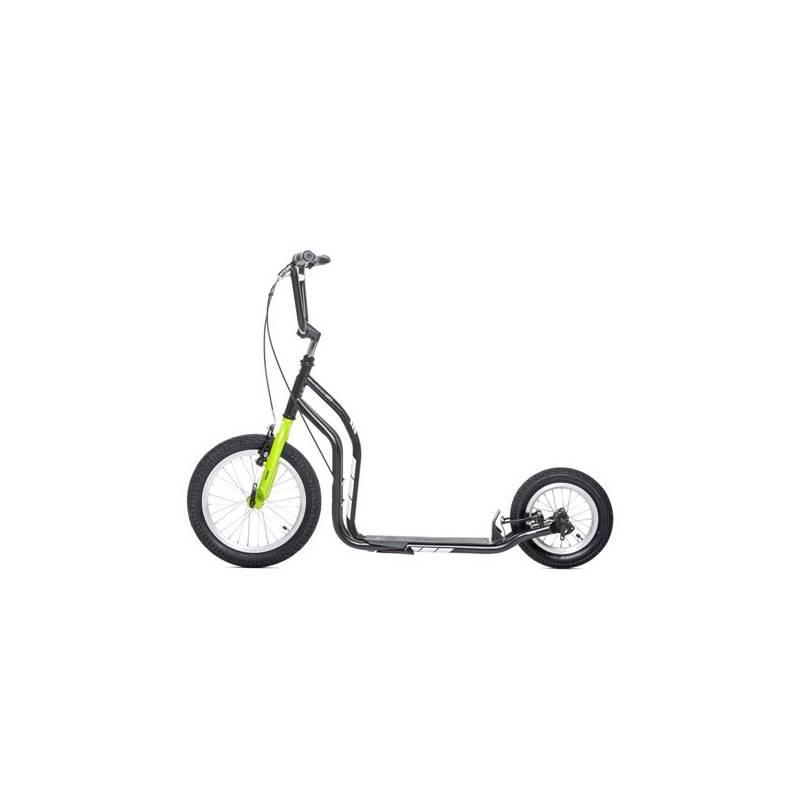 Kolobežka Yedoo New City New čierna/zelená + Doprava zadarmo