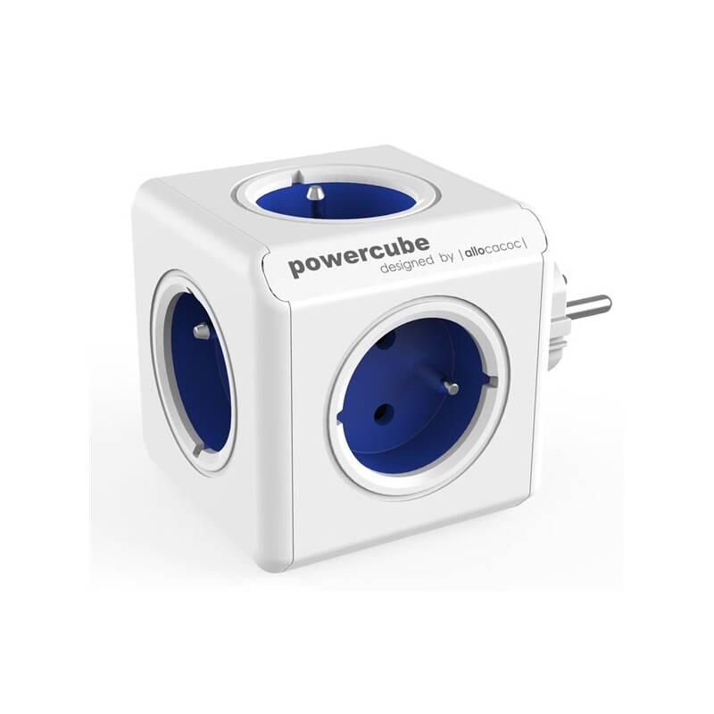 Zásuvka Powercube Original, 5x zásuvka biela/modrá