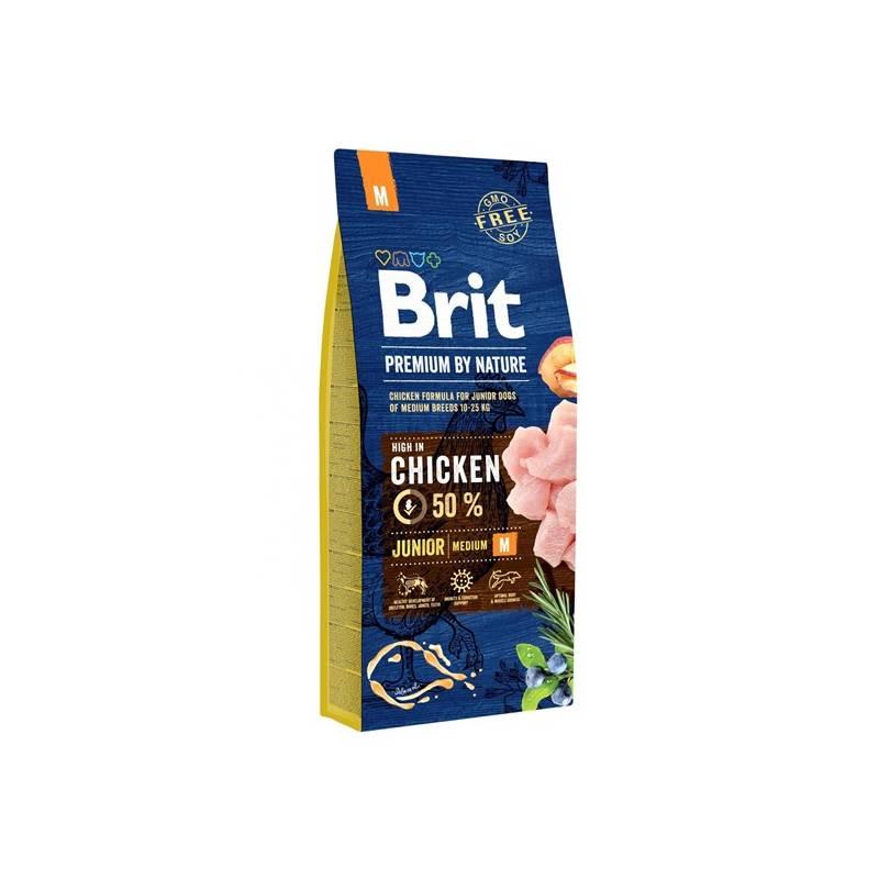 Granule Brit Premium Dog by Nature Junior M 15 kg