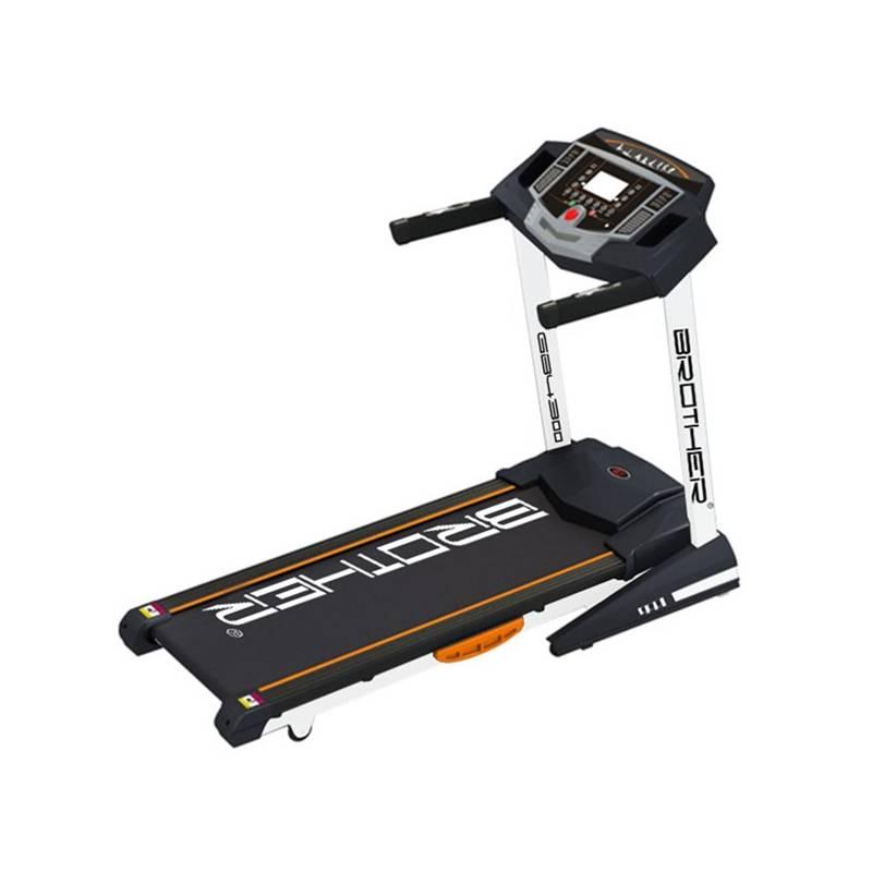 Bežecký pás Brother GB4300 s elektronicky nastavitelným náklonem čierny + Závěsný posilovací systém Acra (popruhy) v hodnote 78.40 € + Doprava zadarmo