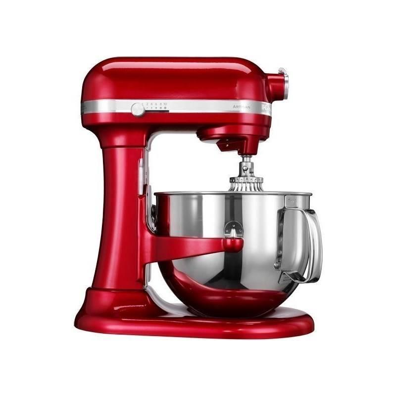 Kuchynský robot KitchenAid Artisan 5KSM7580XECA červený Příslušenství k robotu KitchenAid 5KR7SB mísa 6,9 l (leštěný nerez) (zdarma)