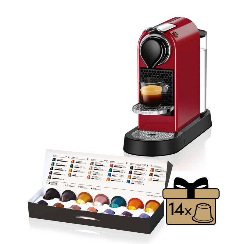 Espresso Krups Nespresso Citiz XN740510 červené