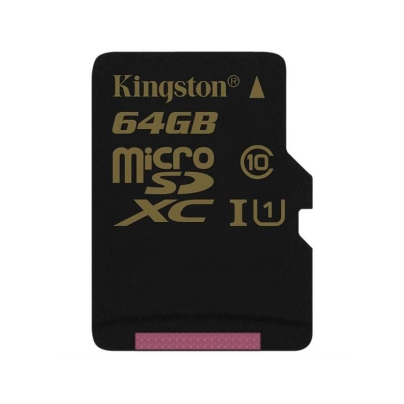 Pamäťová karta Kingston MicroSDXC 64GB UHS-I U1 (90R/45W) (SDCA10/64GBSP) + Doprava zadarmo