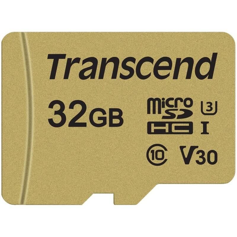 Pamäťová karta Transcend 500S microSDHC 32GB UHS-I U3 (Class 10) (95R/60W) + adapter (TS32GUSD500S) + Doprava zadarmo