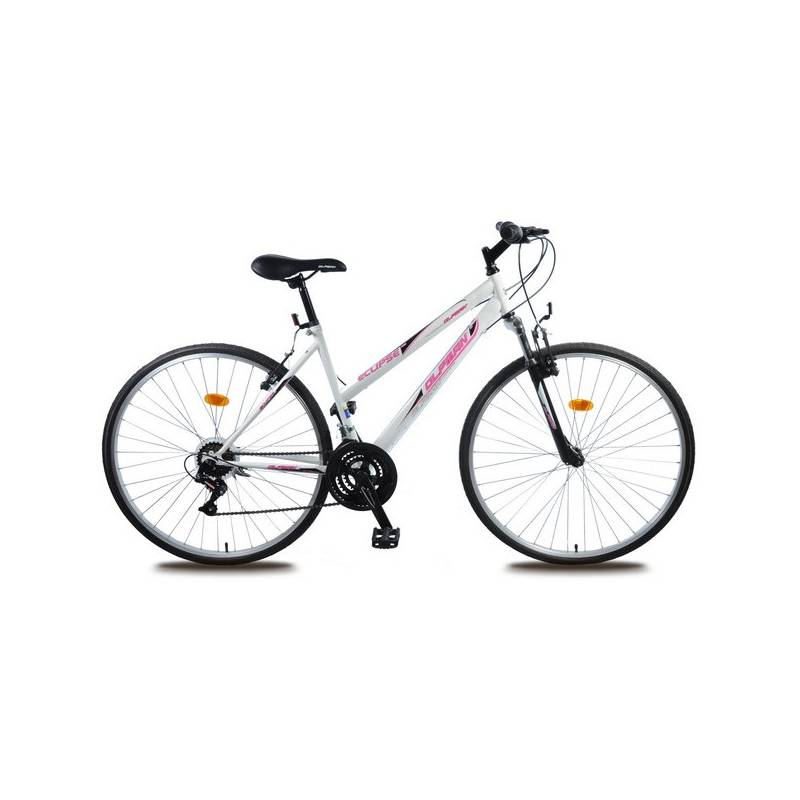 "Krosový bicykel Olpran Eclipse Sus 28"" čierne/biele"