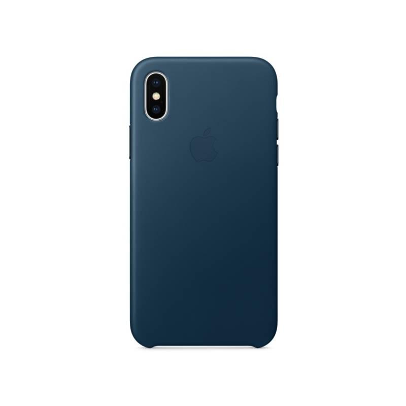 Kryt na mobil Apple Leather Case pro iPhone X - vesmírně modrý (MQTH2ZM A cb61b0b1b56