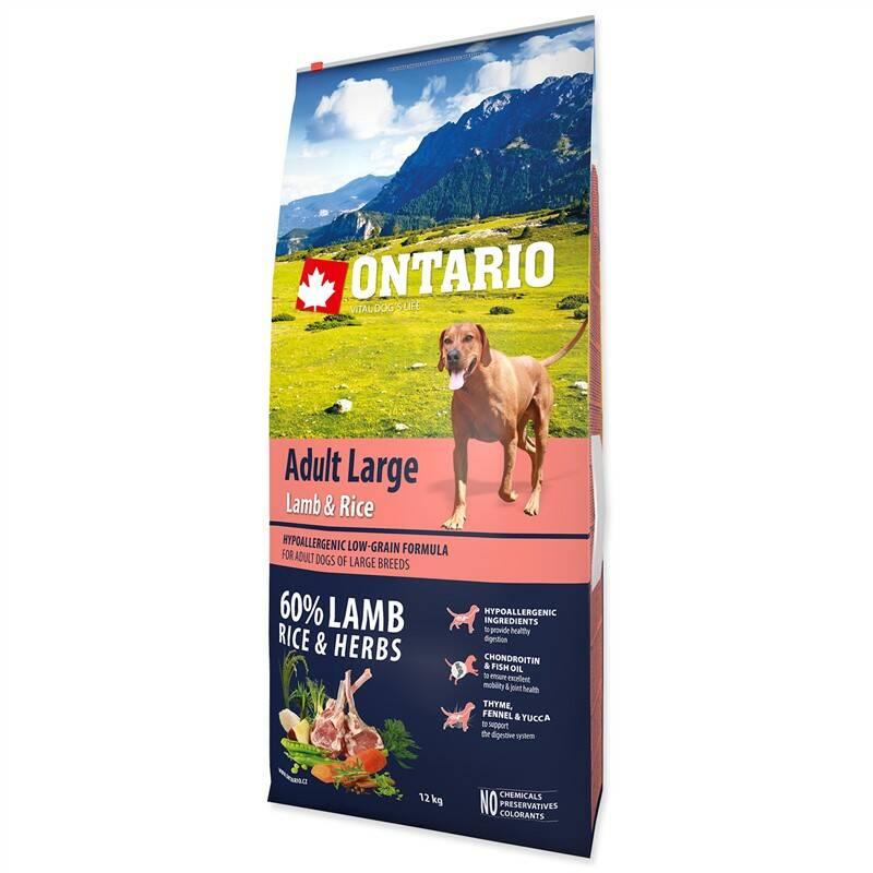 Granuly Ontario Adult Large Lamb & Rice 12kg + Doprava zadarmo
