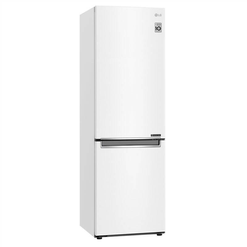 Chladnička s mrazničkou LG GBB71SWEFN bílá + LG 10 let záruka na Lineární kompresor