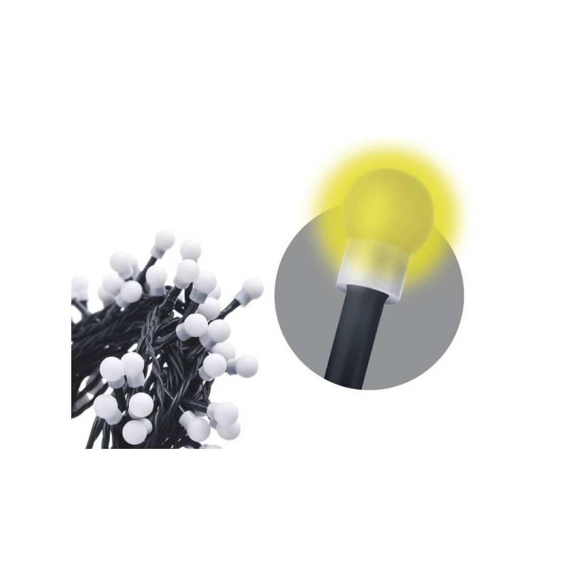 Vianočné osvetlenie EMOS 200 LED, 20m, řetěz (kulička), teplá bílá, časovač, i venkovní použití (1534160015)