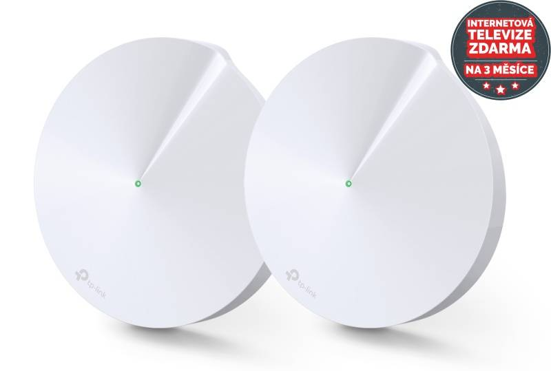 Prístupový bod (AP) TP-Link Deco P7 AC1300 Hybrid Mesh WiFi system, 2 Pack + IP TV na 3 měsíce ZDARMA (Deco P7(2-pack)) biely