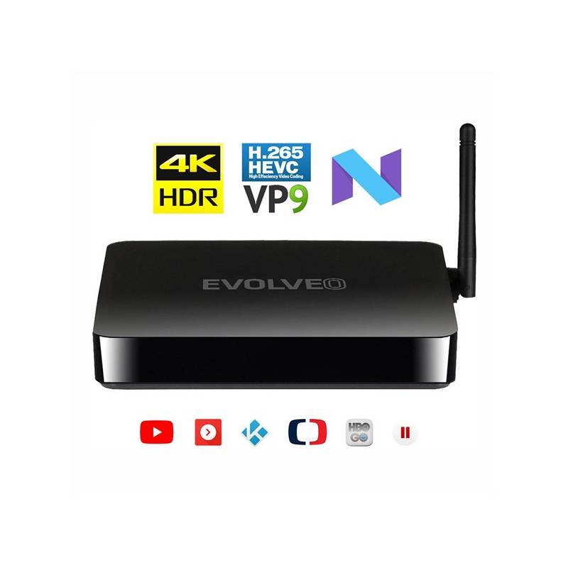 Multimediálne centrum Evolveo MultiMedia Box M4 (MMBX-M4-HDR) čierny