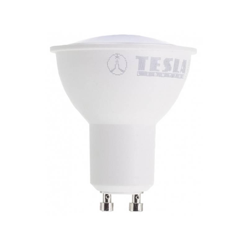 Žárovka LED Tesla bodová, 5W, GU10, studená bílá (GU100540-5)
