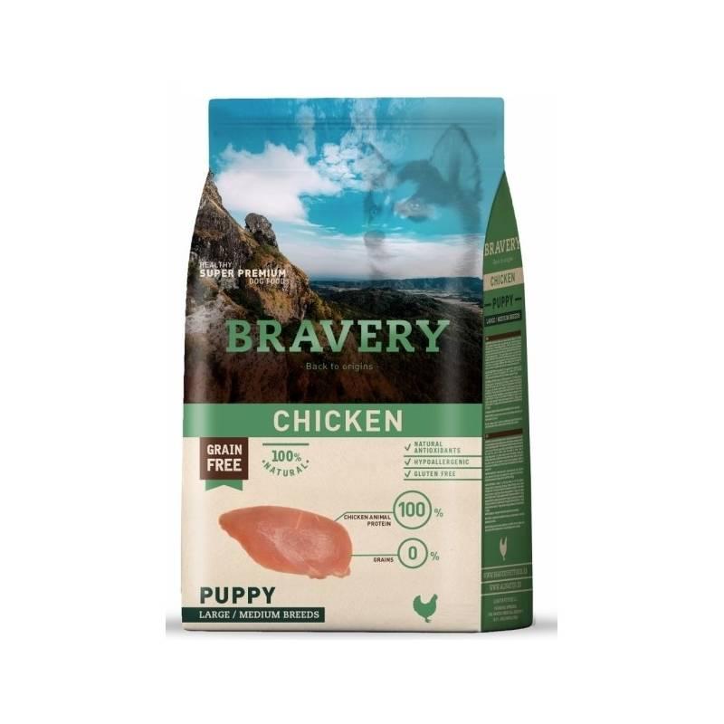 Granule Bravery dog PUPPY Large / Medium chicken 12kg