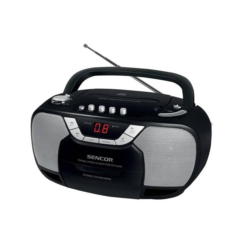 Rádioprijímač s CD Sencor SPT 207 čierny