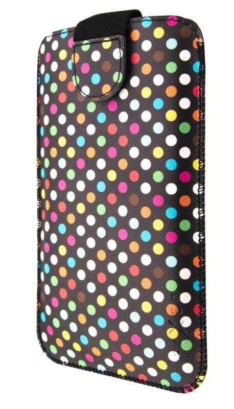 Puzdro na mobil flipové FIXED Soft Slim, 6XL - Rainbow Dots (FIXSOS-RAD-6XL)