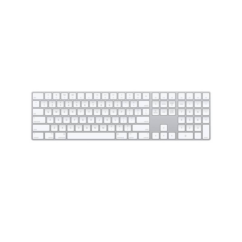 Klávesnica Apple Magic s numerickou klávesnicí - Slovak (mq052sl/a) biela