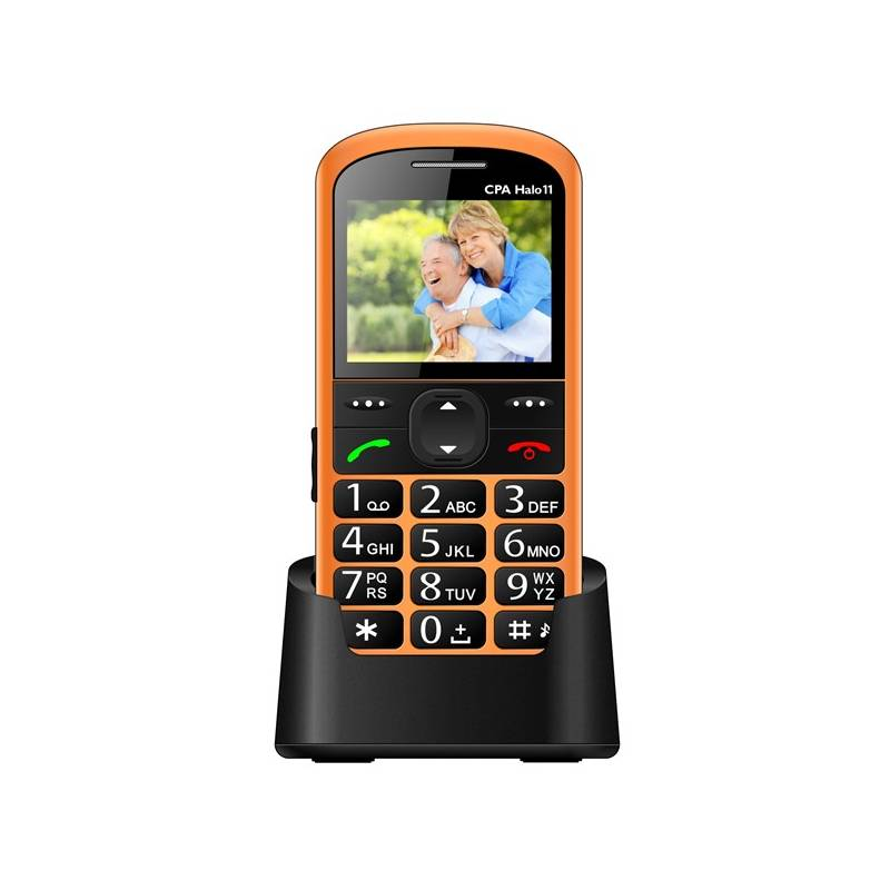Mobilní telefon CPA Halo 11 Senior (TELMY1011OR) oranžový