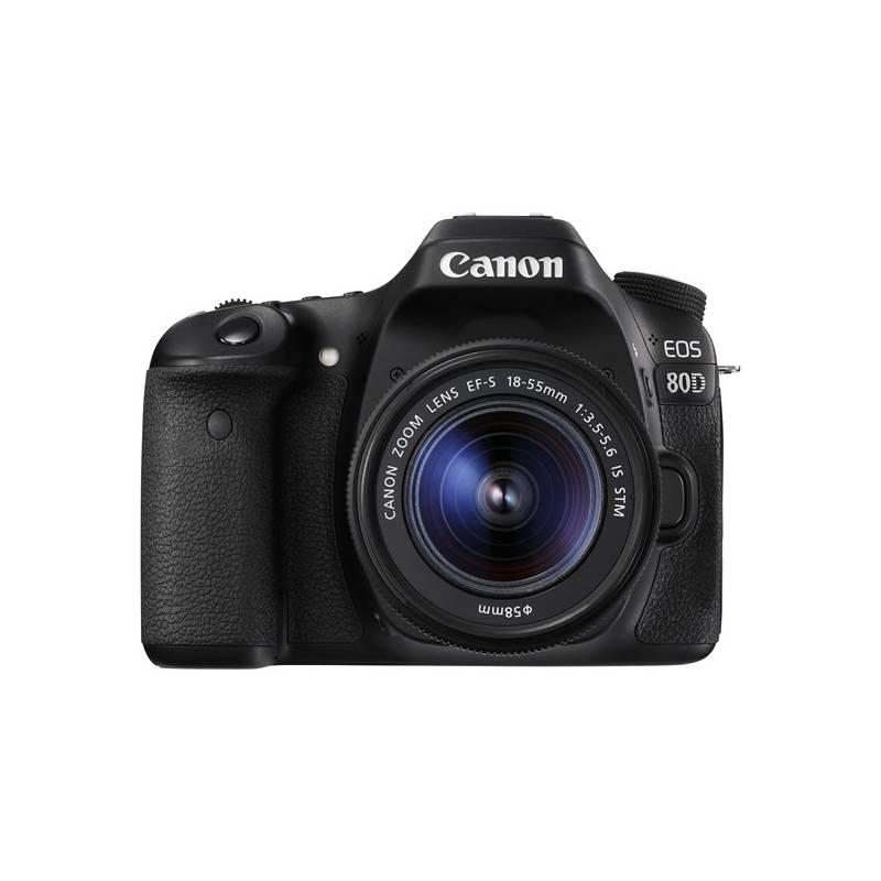 Digitálny fotoaparát Canon EOS 80D + 18-55 IS STM (1263C033) čierny + Doprava zadarmo