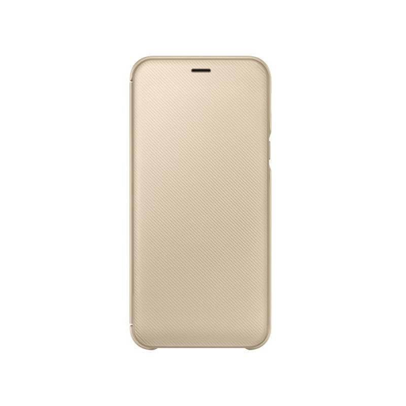 Puzdro na mobil flipové Samsung Wallet Cover pro Galaxy A6 (EF-WA600CFEGWW) zlaté