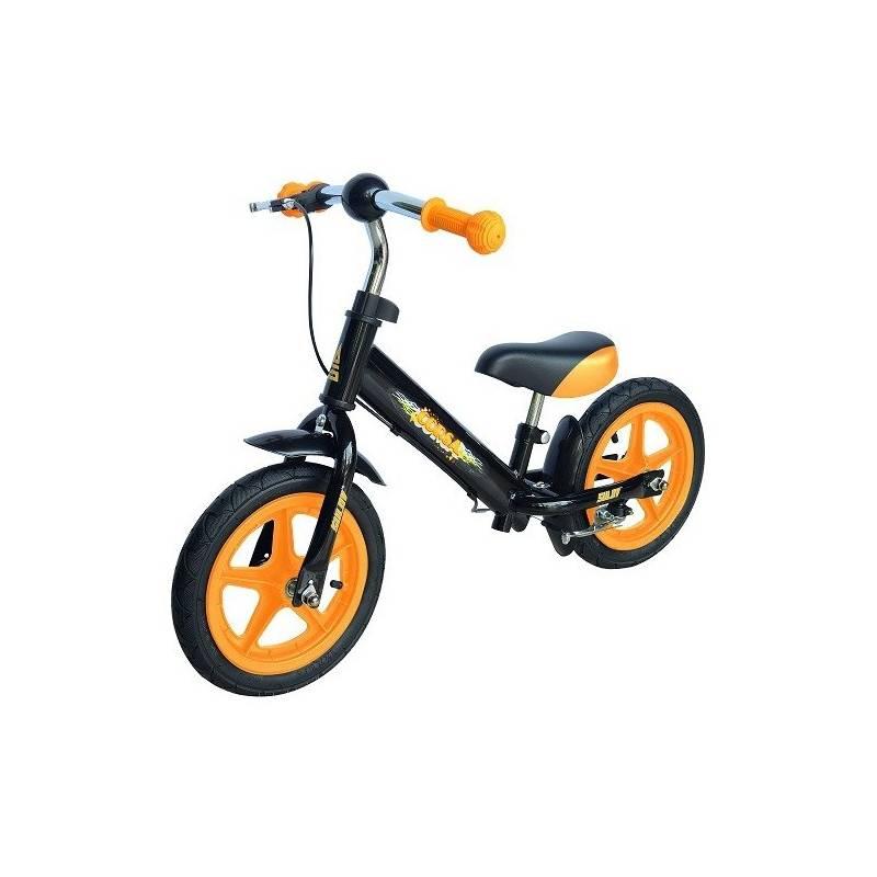 """Odrážadlo Sulov CORSA 12"""" čierne/oranžové + Reflexní sada 2 SportTeam (pásek, přívěsek, samolepky) - zelené v hodnote 2.80 € + Doprava zadarmo"""