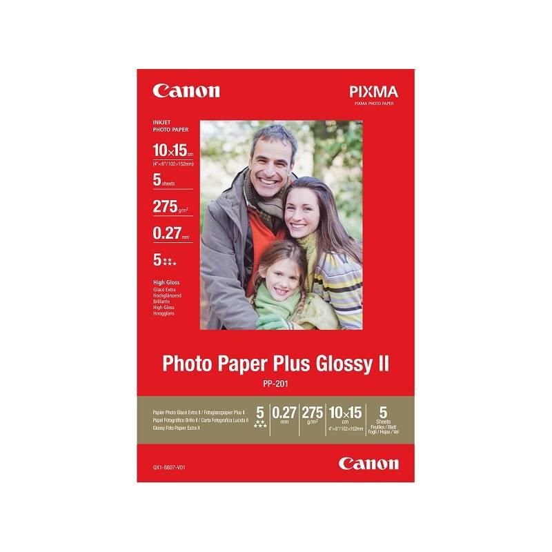 Fotopapier Canon PP-201 10x15, 275g, 50 listů (2311B003) biely