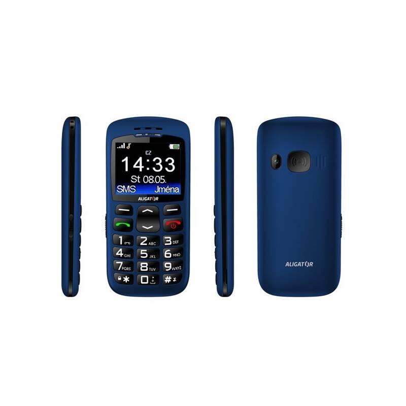 Mobilný telefón Aligator A670 Senior (A670BE) modrý