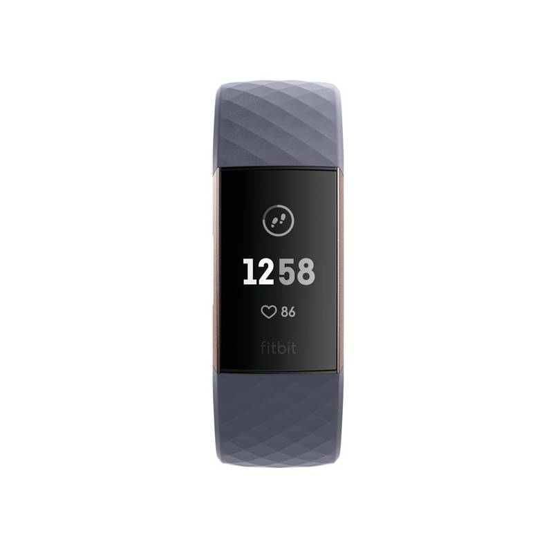 Fitness náramok Fitbit Charge 3 - Rose Gold, Blue Grey (FB409RGGY-EU)