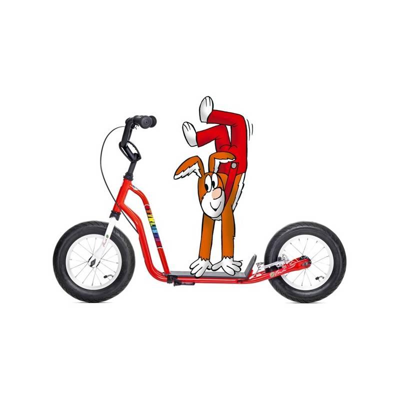 Kolobežka Yedoo Basic Čtyřlístek Mini - Pinďa biela/červená + Reflexní sada 2 SportTeam (pásek, přívěsek, samolepky) - zelené v hodnote 2.80 € + Doprava zadarmo