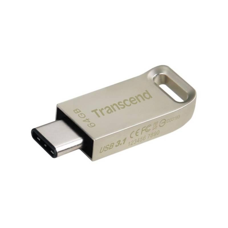 USB flash disk Transcend JetFlash 850S 64GB (TS64GJF850S) strieborná
