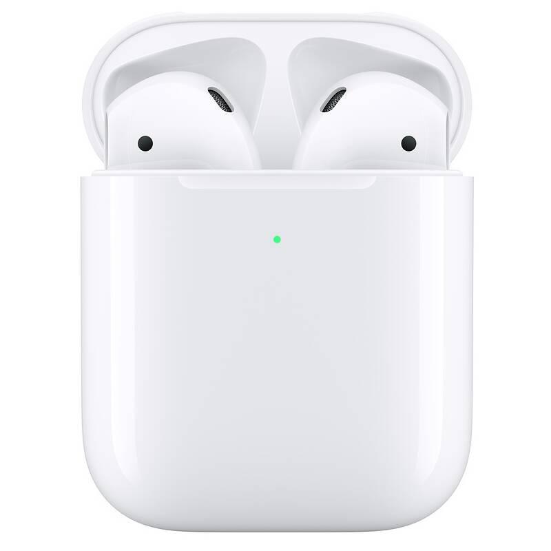 Slúchadlá Apple AirPods, bezdrôtové nabíjanie (2019) (MRXJ2ZM/A) biela