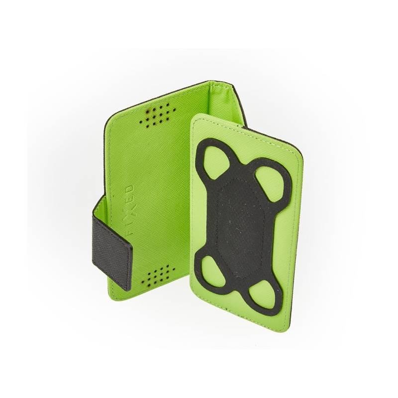 "Puzdro na mobil flipové FIXED twoFACE pro 4,5"" - 5"" (FIX2F-XXL-BKGR) čierne/zelené"