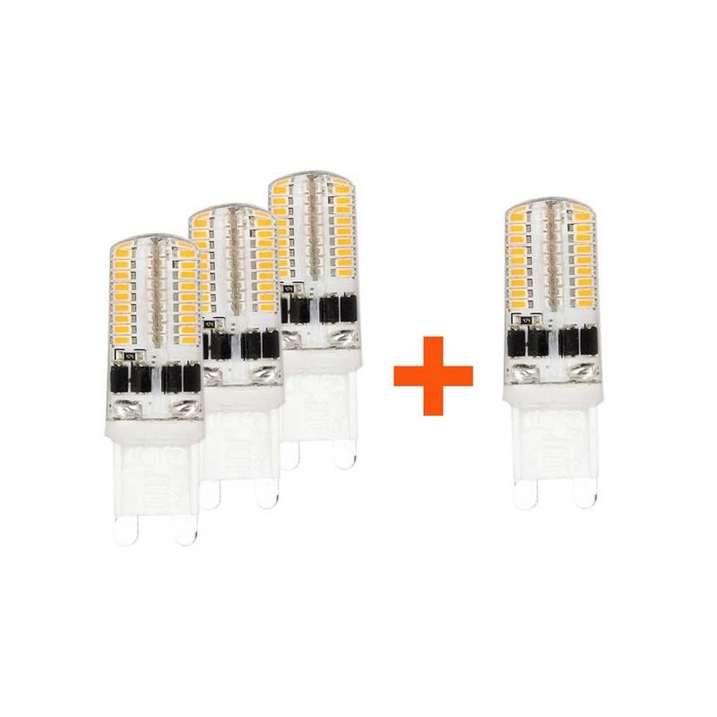 SADA 3 + 1 zdarma LED Žárovek Tesla bodová, 3W, G9, studená bílá
