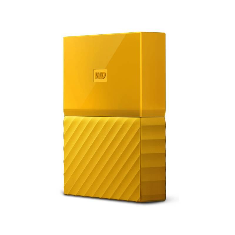 """Externí pevný disk 2,5"""" Western Digital My Passport 4TB (WDBYFT0040BYL-WESN) žlutý"""