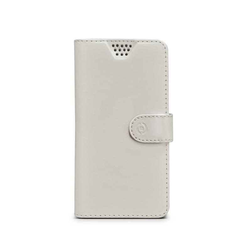 "Pouzdro na mobil flipové Celly Wally Unica, XL, 4.5"" - 5"" (WALLYUNIXLWH) bílé"
