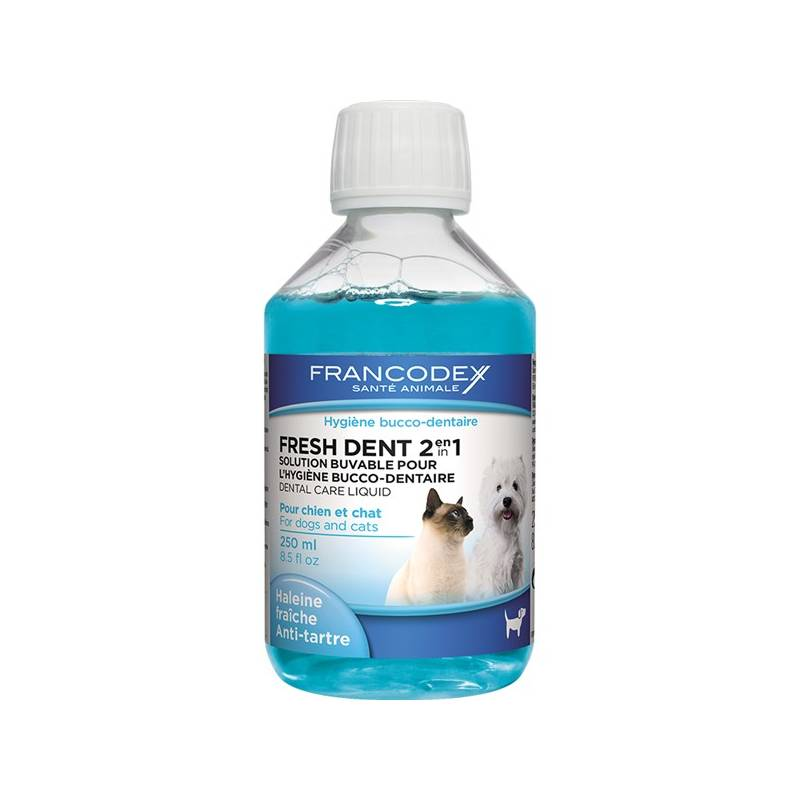Ústna voda Francodex Fresh Dent pes, kočka 250 ml