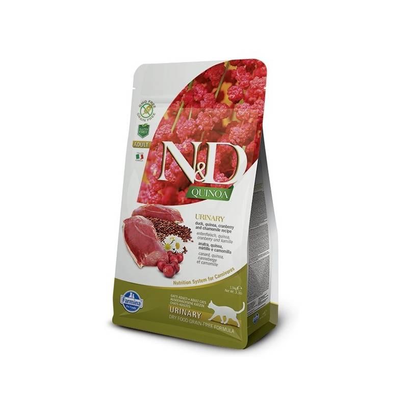 Granule N&D Grain Free Quinoa CAT Urinary Duck & Cranberry 1,5 kg