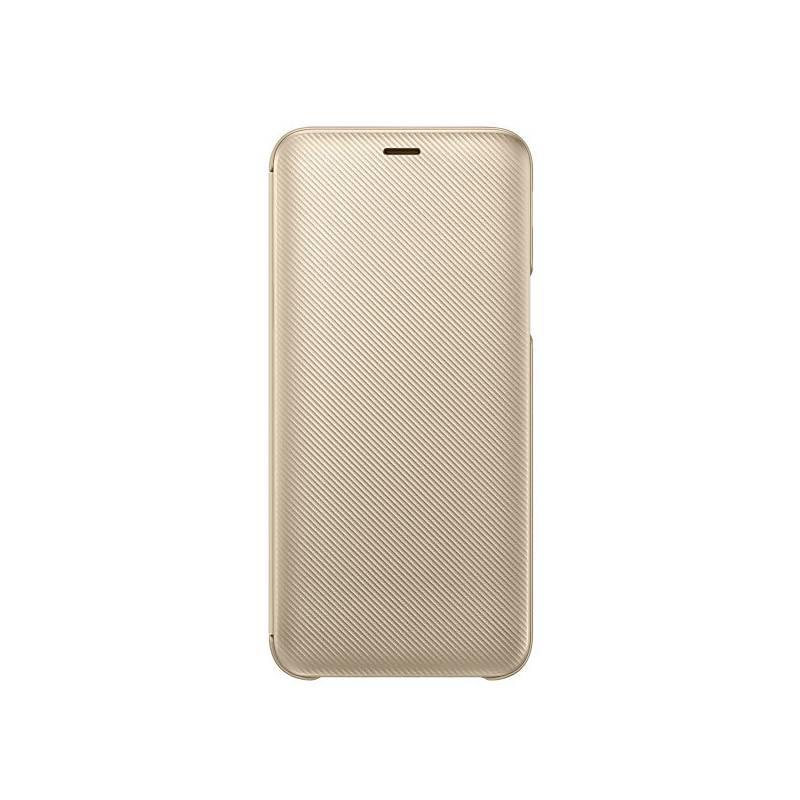 Puzdro na mobil flipové Samsung Wallet Cover pro Galaxy J6 (EF-WJ600C) (EF-WJ600CFEGWW) zlaté