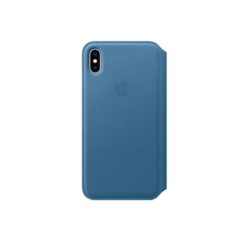 Puzdro na mobil flipové Apple Leather Folio pro iPhone Xs Max - modrošedé  (MRX52ZM A) 5732d508191
