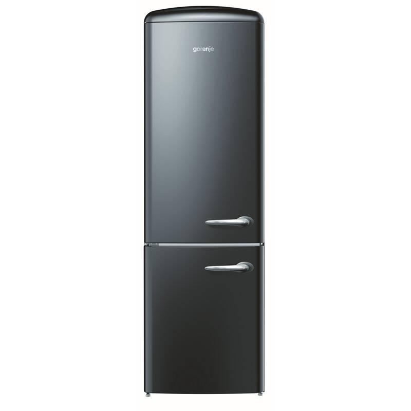 Kombinácia chladničky s mrazničkou Gorenje Retro ORK193BK-L čierna + Doprava zadarmo