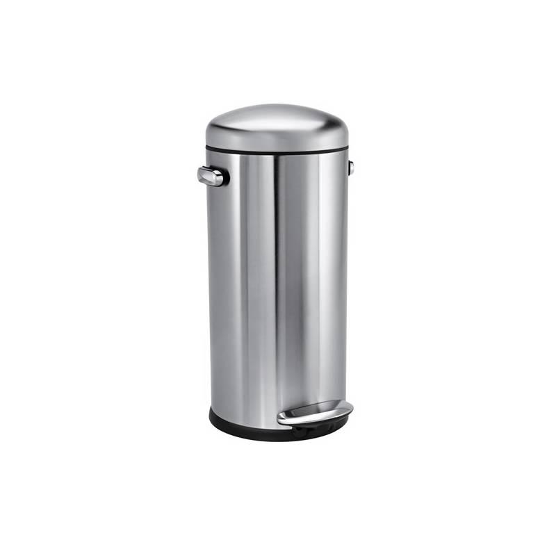 Odpadkový kôš Simplehuman Retro 30 l (CW1880) strieborný