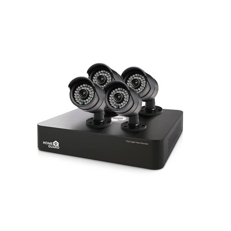 Kamerový systém iGET HOMEGUARD HGDVK46704 - 4-kanálový HD rekordér DVR + 4x barevná venkovní HD kamera 720p (HGDVK46704)